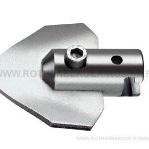 Изогнутый лопаточный скребок с муфтой 32 мм Rothenberger